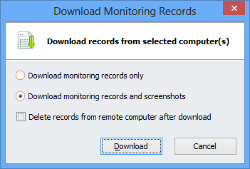 Download Monitoring Records from a remote computer
