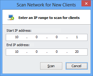 scan a network for new clients