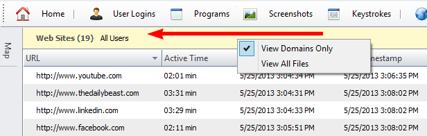 HomeGuard Activity Monitor websites filter