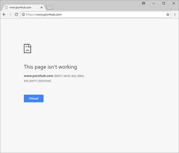 Silently block porn websites
