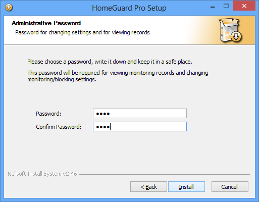 HomeGuard Professional Edition Installation