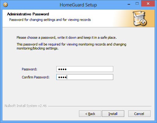 HomeGuard Activity Monitor Installation