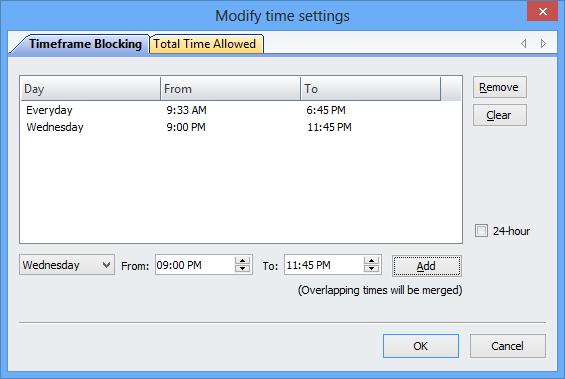 blocking an application