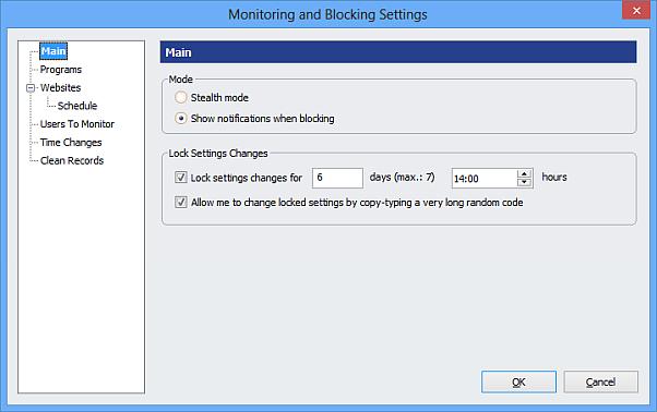Lock Settings Changes