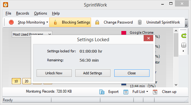SprintWork Social Networks Blocker