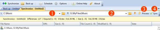 Synchronize two folders