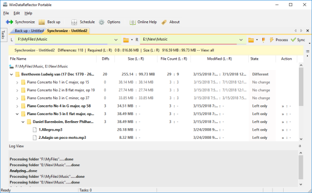 WinDataReflector Free File Synchronization and Backup